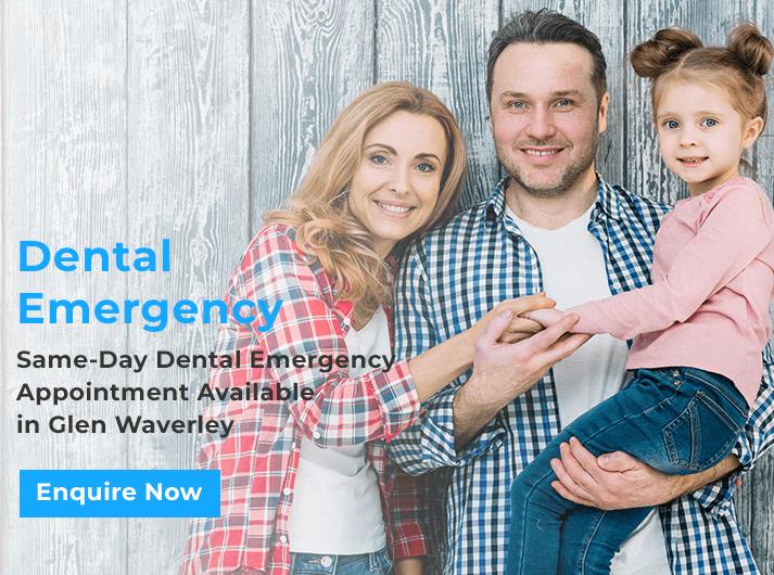 dental emergency promo banner glen waverley